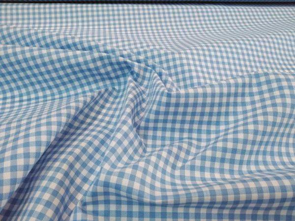 Tela vichy azul cuadro mediano