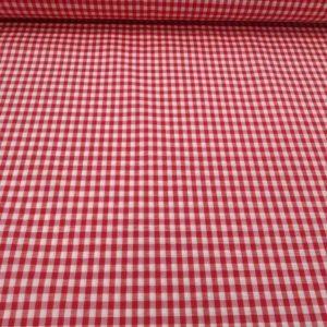 Vichy rojo cuadro mediano