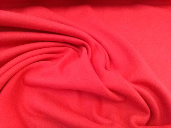 Tela de sudadera roja