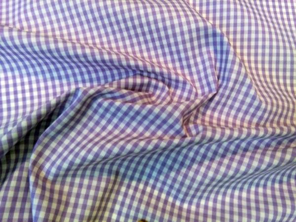 Vichy lila de cuadro mediano
