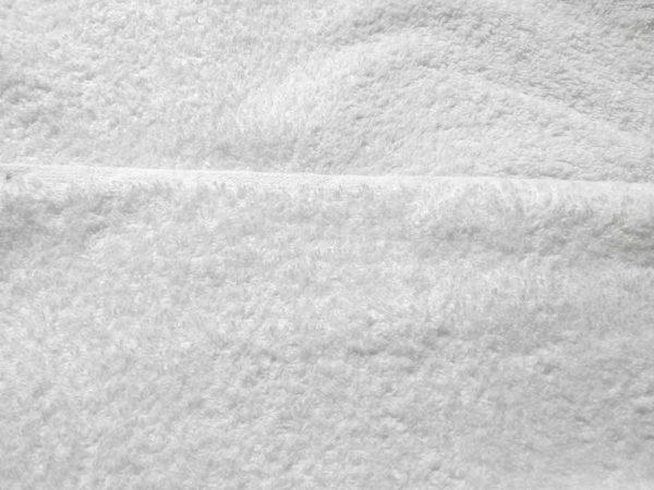 Felpa, rizo, tela de toalla blanca de algodón