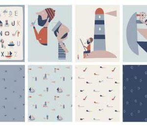 Panel cojines marineros Katia Fabrics