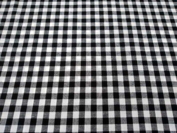 Vichy de algodón negro