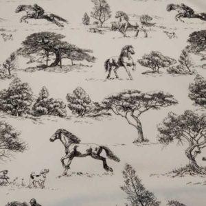 Tela caballos de viscosa