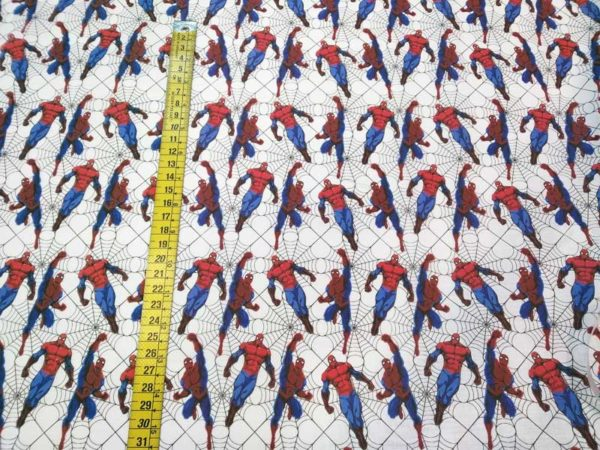 Tela Spiderman de algodón