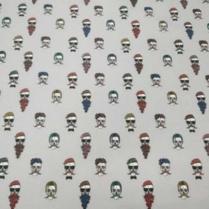 Tela calaveras hipsters de algodón