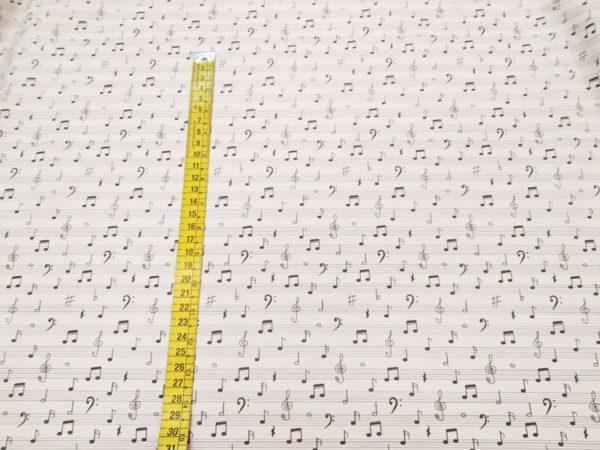 Tela notas musicales de algodón