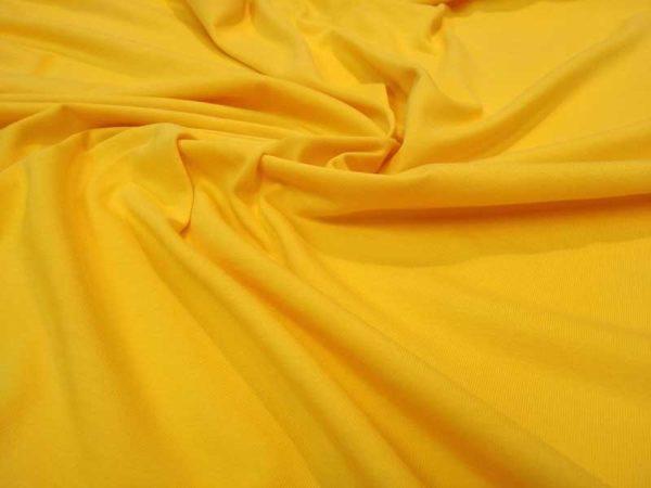 Punto de camiseta liso color amarillo