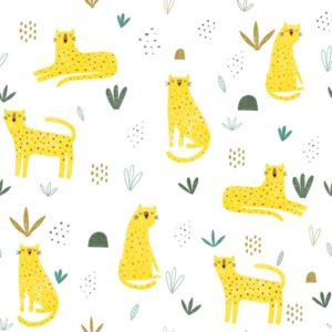 Tela de Leopardos Katia Fabrics