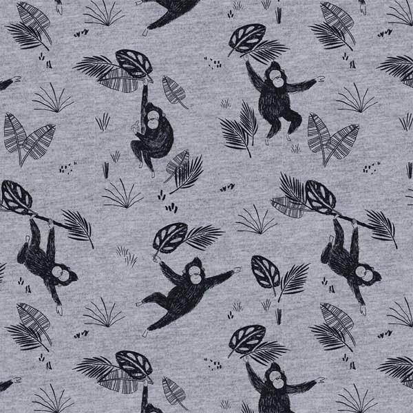 Tela orangutanes de sudadera French Terry. Katia Fabrics.