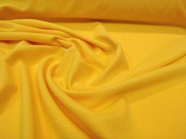 Tela de sudadera fina color amarillo