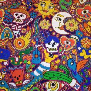 Terciopelo estampado México