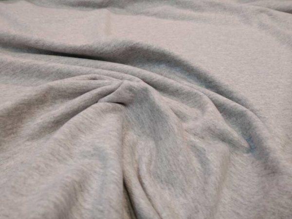 Tela de sudadera fina color gris vigore