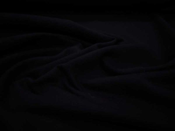 Tela de sudadera fina de color negro