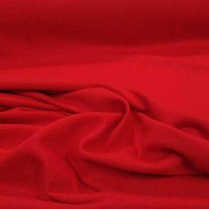 Tela de sudadera fina de color rojo