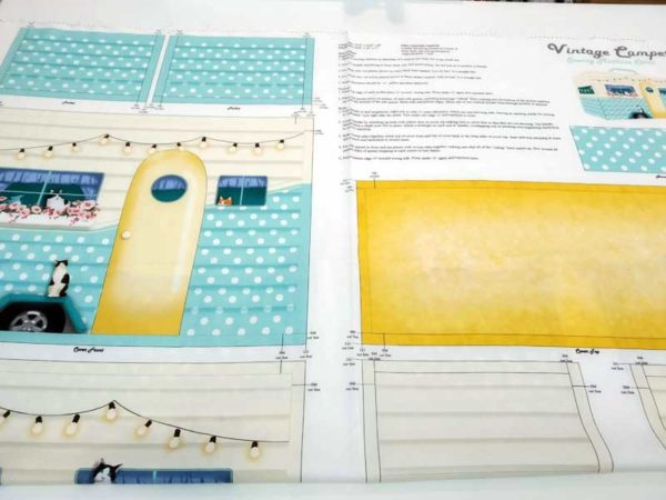 Panel funda máquina de coser