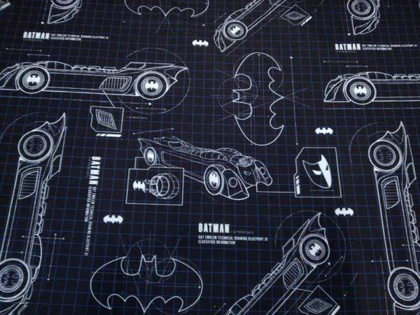 Tela Batman. Loneta half panamá.