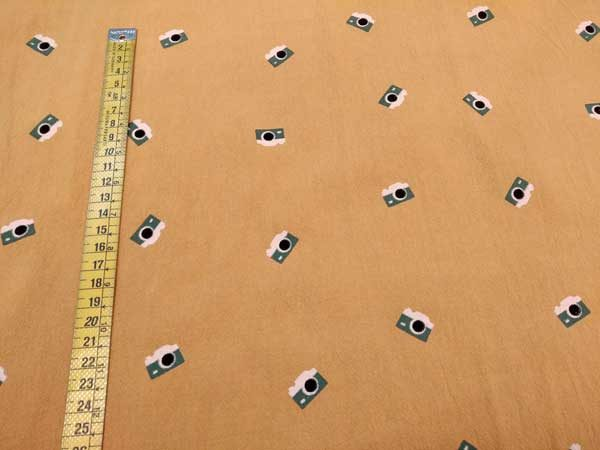 Tela cámaras de fotos. Algodón rústico de Katia Fabrics.