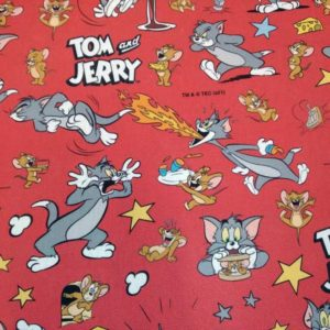 Tela Tom y Jerry. Loneta half panamá