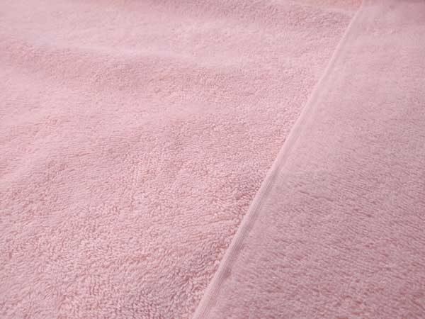 Felpa, rizo, tela de toalla de algodón en color rosa