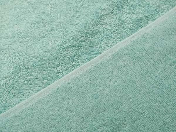 Felpa, rizo, tela de toalla de algodón en color verde