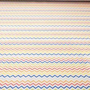 Piqué Zig-Zag multicolor de algodón