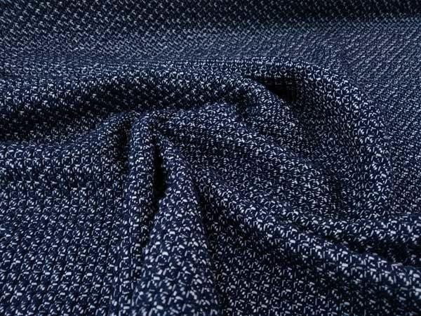 Tela de punto reversible azul-crudo