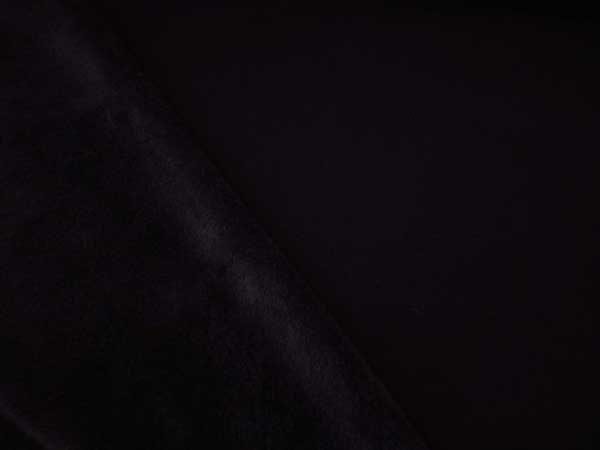 Tela de sudadera con pelo interior en color negro